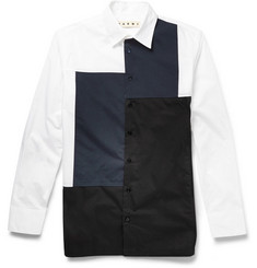 Marni Panelled Cotton-Poplin Shirt
