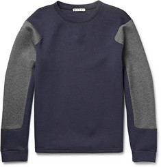 Marni Two-Tone Cotton-Blend Jersey Sweatshirt