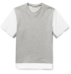 Marni Bonded-Poplin and Cotton-Jersey T-Shirt