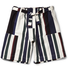 Marni Striped Cotton-Twill Shorts