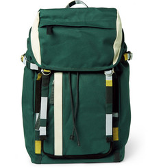 Marni Suede-Trimmed Canvas Backpack