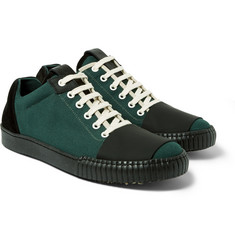 Marni Matte-Leather and Suede-Trimmed Canvas Sneakers