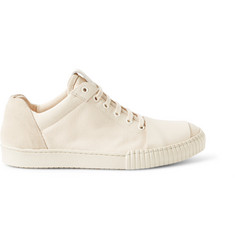 Marni Leather and Suede-Trimmed Canvas Sneakers