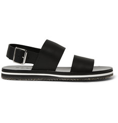 Marni Two-Strap Leather Sandals
