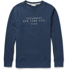 Saturdays Surf NYC Printed Cotton-Jersey Sweatshirt