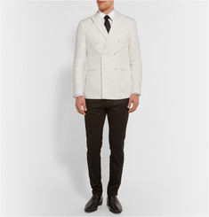 Burberry London White Printed Cotton Shirt
