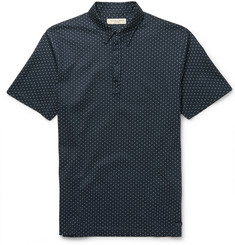 Burberry London Polka-Dot Cotton-Piqué Polo Shirt