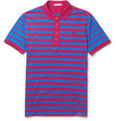 Burberry Brit Striped Cotton-Jersey Polo Shirt