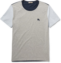 Burberry Brit Colour-Block Cotton-Jersey T-Shirt