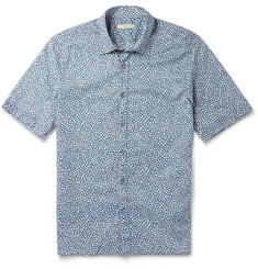 Burberry Brit Floral-Print Cotton Short-Sleeved Shirt