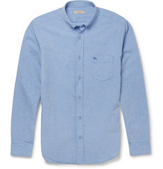 Burberry Brit Cotton and Linen-Blend Chambray Shirt