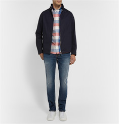 Burberry Brit Button-Down Collar Checked Cotton Shirt