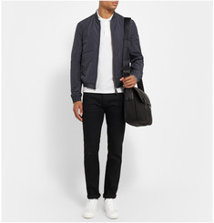 Burberry Brit Jersey-Trimmed Lightweight Bomber Jacket