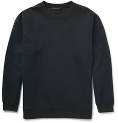 Christopher Kane Embossed Tech-Jersey Crew Neck Sweatshirt