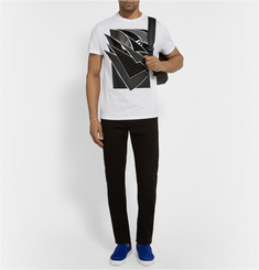 Christopher Kane Pages Appliquéd Cotton-Jersey T-Shirt