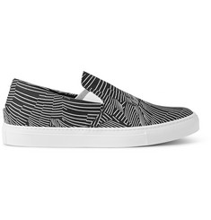 Christopher Kane Printed Canvas Slip-On Sneakers