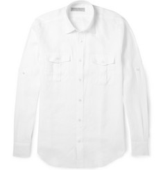 Gieves & Hawkes Linen Military Shirt