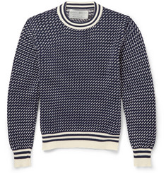 Gieves & Hawkes Patterned Cotton Sweater