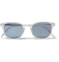 Oliver Peoples Fairmont Crystal-Acetate Round-Frame Sunglasses