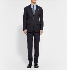 Polo Ralph Lauren Navy Slim-Fit Wool Suit Trousers