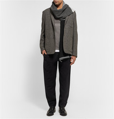 The Elder Statesman Oversized Wool and Cashmere-Blend Scarf