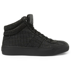 Jimmy Choo Belgravia Crocodile-Embossed Leather Sneakers