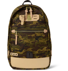 Master-Piece Surpass Leather-Trimmed Printed Cordura Backpack