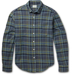 Simon Miller Slub Cotton Plaid Shirt