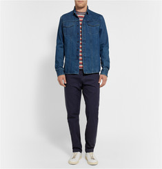 Simon Miller M065 Barlow Indigo-Rinsed Cotton-Canvas Trousers