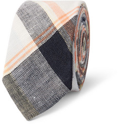 Thom Browne Madras Plaid Linen Tie