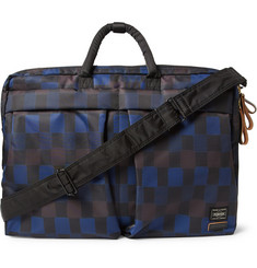 Marni + PORTER Check-Print Nylon Convertible Messenger Bag