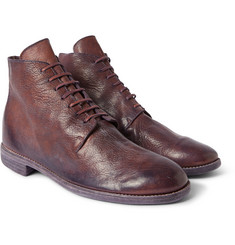 Guidi Full-Grain Leather Lace-Up Boots