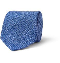 Drake's Slubbed Wool, Silk and Linen-Blend Tie