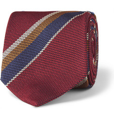 Drake's Striped Silk Tie