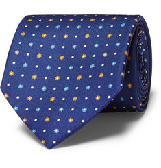 Drake's Floral and Polka-Dot Silk Tie