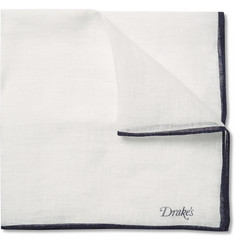 Drake's Linen Pocket Square