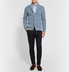 Emma Willis Blue Prince Of Wales Check Cotton Shirt