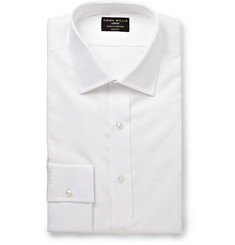 Emma Willis White Organic Cotton-Piqué Shirt