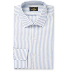 Emma Willis Blue Butcher-Striped Linen Shirt