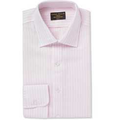 Emma Willis Pink Butcher-Striped Linen Shirt