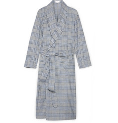 Emma Willis Checked Cotton Dressing Gown