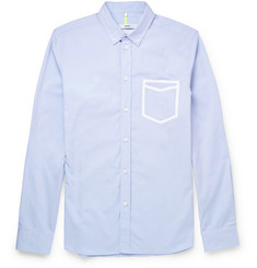 OAMC Tape-Detailed Button-Down Collar Cotton-Poplin Shirt