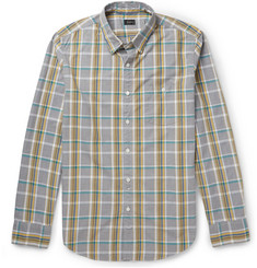 J.Crew Checked Jaspe-Cotton Shirt