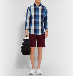 J.Crew Button-Down Collar Buffalo Checked Cotton Shirt