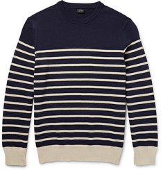 J.Crew Striped Cotton Sweater