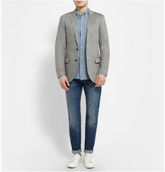 J.Crew Button-Down Collar Checked Cotton Shirt