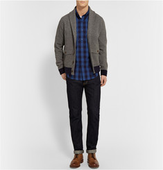 J.Crew Slim-Fit Indigo Gingham Cotton Shirt