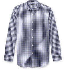 J.Crew Gingham Super 120s Cotton Shirt