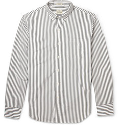 J.Crew Button-Down Collar Striped Cotton Shirt