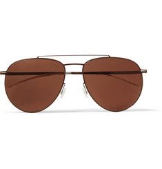 Mykita Magnus Lightweight Aviator Metal Sunglasses
